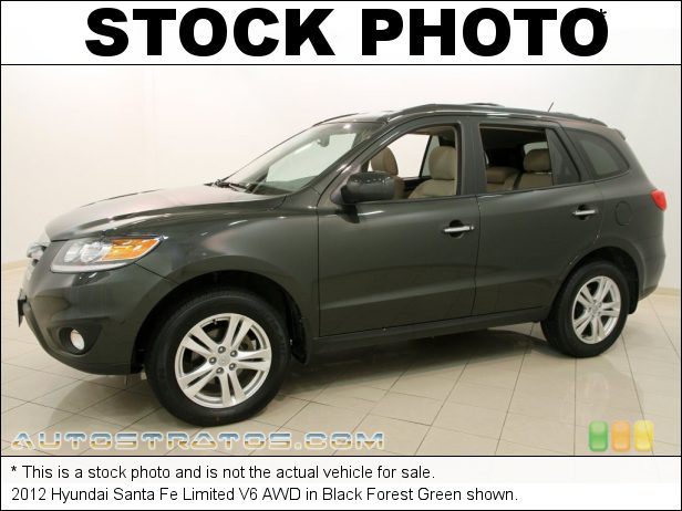 Stock photo for this 2012 Hyundai Santa Fe Limited V6 AWD 3.5 Liter DOHC 24-Valve V6 6 Speed SHIFTRONIC Automatic