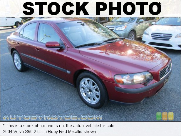 Stock photo for this 2004 Volvo S60 2.5T 2.5 Liter Turbocharged DOHC 20 Valve Inline 5 Cylinder 5 Speed Automatic