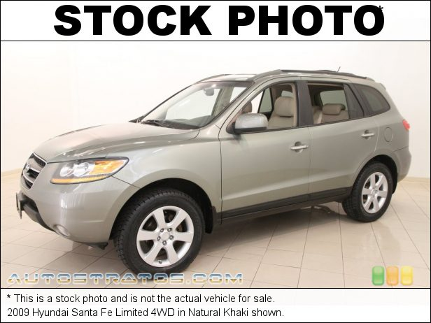 Stock photo for this 2009 Hyundai Santa Fe 4WD 3.3 Liter DOHC 24-Valve V6 5 Speed Shiftronic Automatic