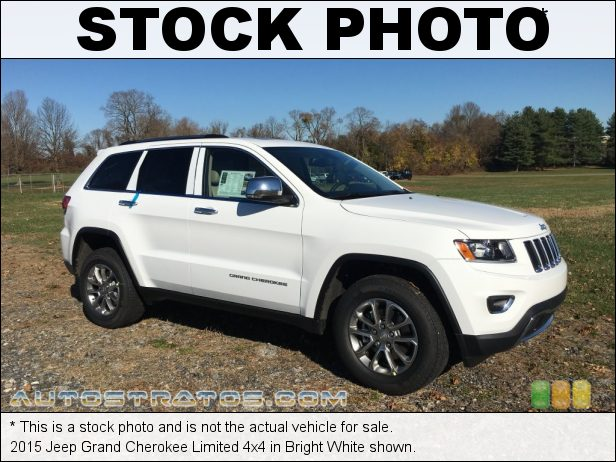 Stock photo for this 2015 Jeep Grand Cherokee Limited 4x4 3.6 Liter DOHC 24-Valve VVT Pentastar V6 8 Speed Paddle-Shift Automatic