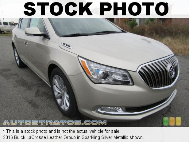 Stock photo for this 2016 Buick LaCrosse Leather Group 3.6 Liter SIDI DOHC 24-Valve VVT E85 V6 6 Speed Automatic
