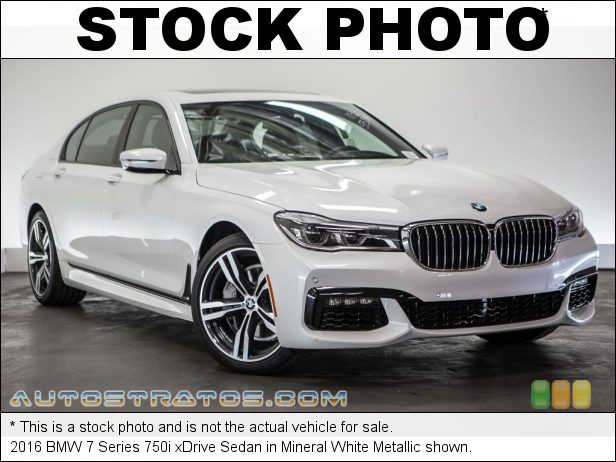 Stock photo for this 2016 BMW 7 Series 750i xDrive Sedan 4.4 Liter DI TwinPower Turbocharged DOHC 32-Valve VVT V8 8 Speed Automatic