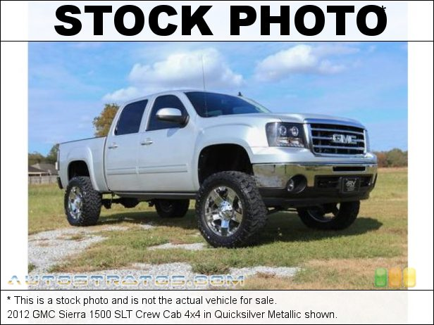 Stock photo for this 2012 GMC Sierra 1500 SLT Crew Cab 4x4 5.3 Liter Flex-Fuel OHV 16-Valve VVT Vortec V8 6 Speed Automatic