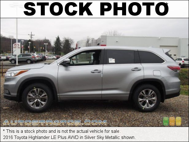 Stock photo for this 2014 Toyota Highlander LE AWD 3.5 Liter DOHC 24-Valve Dual VVT-i V6 6 Speed ECT-i Automatic