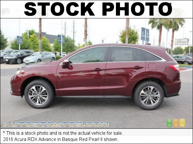 Stock photo for this 2016 Acura RDX Advance 3.5 Liter DOHC 24-Valve i-VTEC V6 6 Speed Sequential Sportshift Automatic