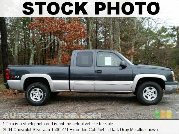 Stock photo for this 2004 Chevrolet Silverado 1500 Extended Cab 4x4 5.3 Liter OHV 16-Valve Vortec V8 4 Speed Automatic