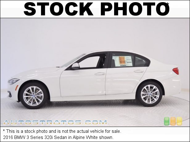 Stock photo for this 2016 BMW 3 Series 320i Sedan 2.0 Liter DI TwinPower Turbocharged DOHC 16-Valve VVT 4 Cylinder 8 Speed Automatic