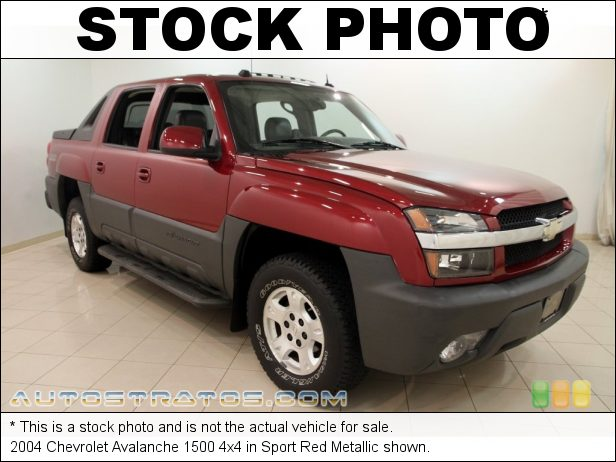 Stock photo for this 2004 Chevrolet Avalanche 1500 4x4 5.3 Liter OHV 16 Valve Vortec V8 4 Speed Automatic