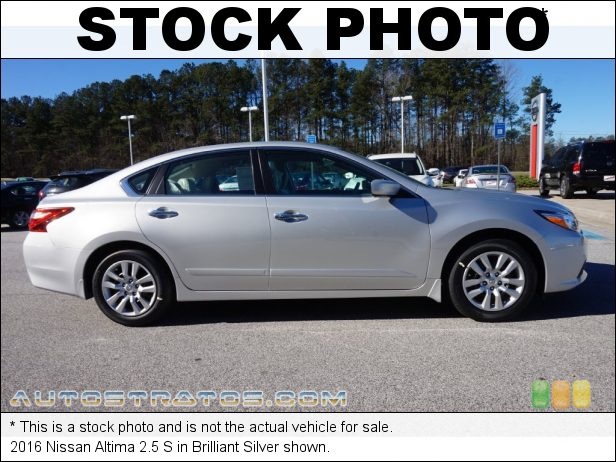 Stock photo for this 2016 Nissan Altima 2.5 S 2.5 Liter DOHC 16-Valve CVTCS 4 Cylinder Xtronic CVT Automatic