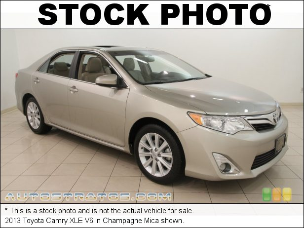 Stock photo for this 2013 Toyota Camry XLE V6 3.5 Liter DOHC 24-Valve Dual VVT-i V6 6 Speed ECT-i Automatic