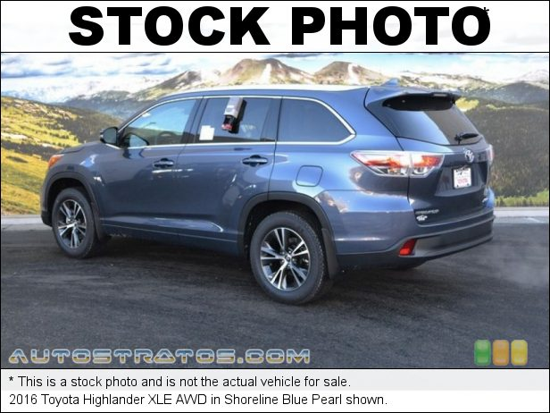 Stock photo for this 2016 Toyota Highlander XLE AWD 3.5 Liter DOHC 24-Valve VVT-i V6 6 Speed ECT-i Automatic