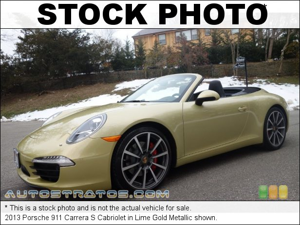 Stock photo for this 2013 Porsche 911 Carrera Cabriolet 3.8 Liter DFI DOHC 24-Valve VarioCam Plus Flat 6 Cylinder 7 Speed PDK Dual-Clutch Automatic