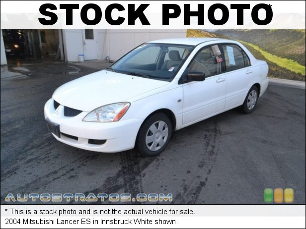 Stock photo for this 2004 Mitsubishi Lancer ES 2.0 Liter SOHC 16-Valve MIVEC 4 Cylinder 4 Speed Automatic