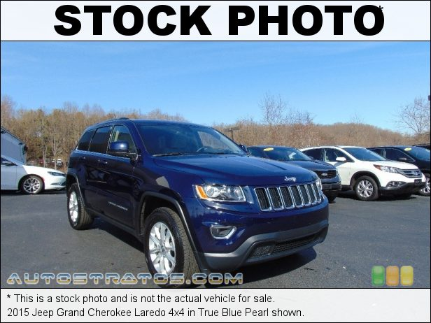 Stock photo for this 2015 Jeep Grand Cherokee Laredo 4x4 3.6 Liter DOHC 24-Valve VVT Pentastar V6 8 Speed Paddle-Shift Automatic