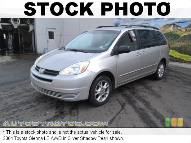 Stock photo for this 2004 Toyota Sienna LE AWD 3.3L DOHC 24V VVT-i V6 5 Speed Automatic
