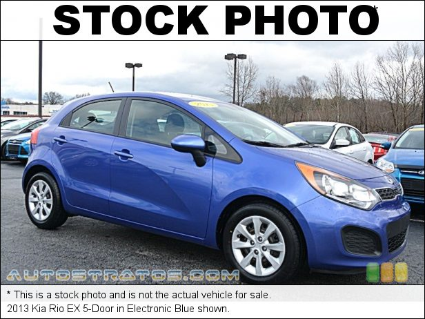 Stock photo for this 2013 Kia Rio EX 5-Door 1.6 Liter GDI DOHC 16-Valve CVVT 4 Cylinder 6 Speed Automatic
