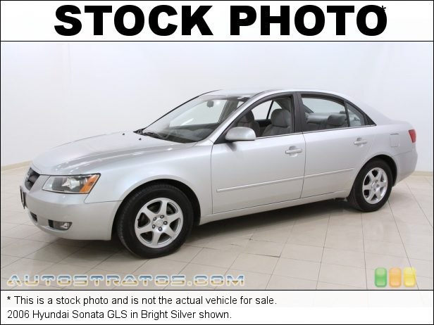 Stock photo for this 2006 Hyundai Sonata GLS 2.4 Liter DOHC 16V VVT 4 Cylinder 4 Speed Shiftronic Automatic