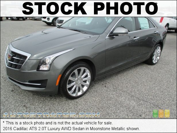 Stock photo for this 2016 Cadillac ATS 2.0T Luxury AWD Sedan 2.0 Liter DI Turbocharged DOHC 16-Valve VVT 4 Cylinder 8 Speed Automatic