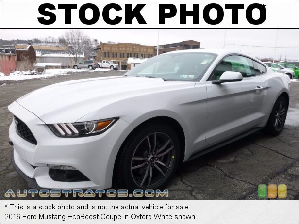 Stock photo for this 2016 Ford Mustang EcoBoost Coupe 2.3 Liter GTDI Turbocharged DOHC 16-Valve EcoBoost 4 Cylinder 6 Speed Manual