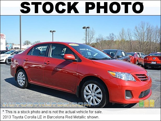 Stock photo for this 2013 Toyota Corolla  1.8 Liter DOHC 16-Valve Dual VVT-i 4 Cylinder 4 Speed ECT-i Automatic