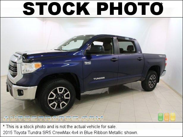 Stock photo for this 2015 Toyota Tundra SR5 CrewMax 4x4 5.7 Liter DOHC 32-Valve Dual VVT-i V8 6 Speed Automatic