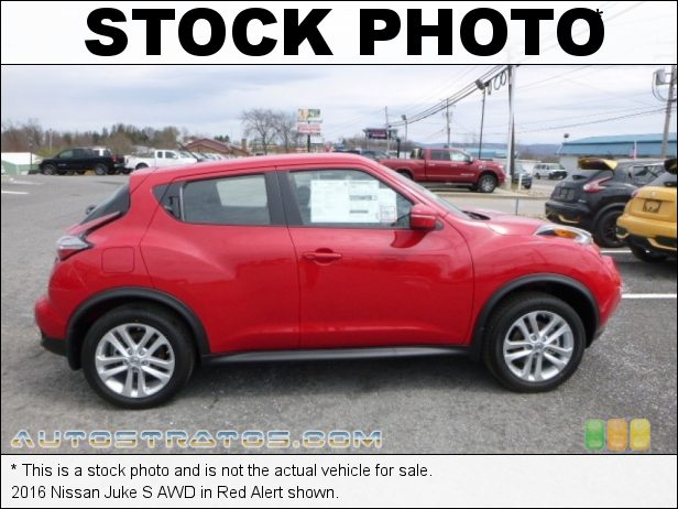 Stock photo for this 2016 Nissan Juke AWD 1.6 Liter DIG Turbocharged DOHC 16-Valve CVTCS 4 Cylinder Xtronic CVT Automatic