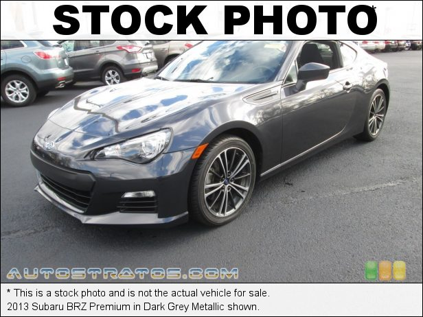 Stock photo for this 2013 Subaru BRZ Premium 2.0 Liter DOHC 16-Valve DAVCS Flat 4 Cylinder 6 Speed Automatic