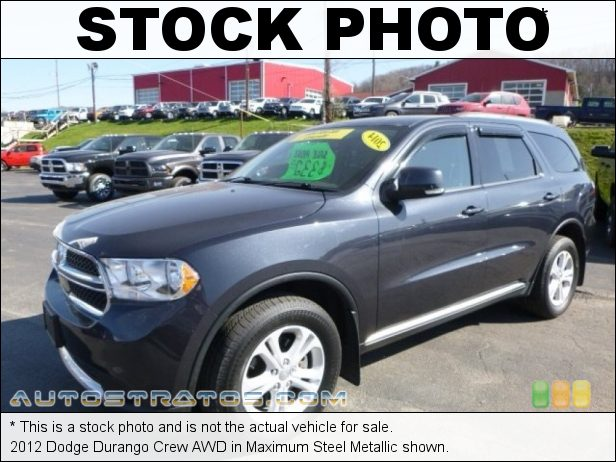 Stock photo for this 2012 Dodge Durango Crew AWD 3.6 Liter DOHC 24-Valve VVT Pentastar V6 5 Speed Automatic