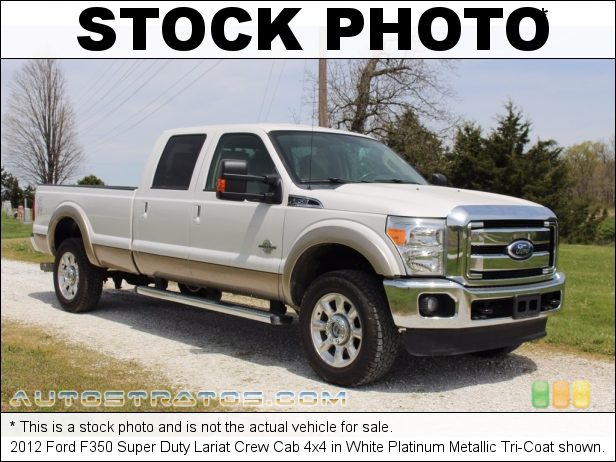 Stock photo for this 2012 Ford F350 Super Duty Crew Cab 4x4 6.7 Liter OHV 32-Valve B20 Power Stroke Turbo-Diesel V8 6 Speed TorqueShift Automatic