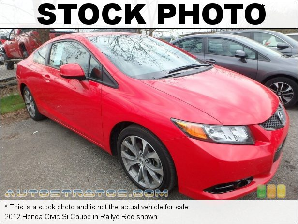 Stock photo for this 2012 Honda Civic Si Coupe 2.4 Liter DOHC 16-Valve i-VTEC 4 Cylinder 6 Speed Manual