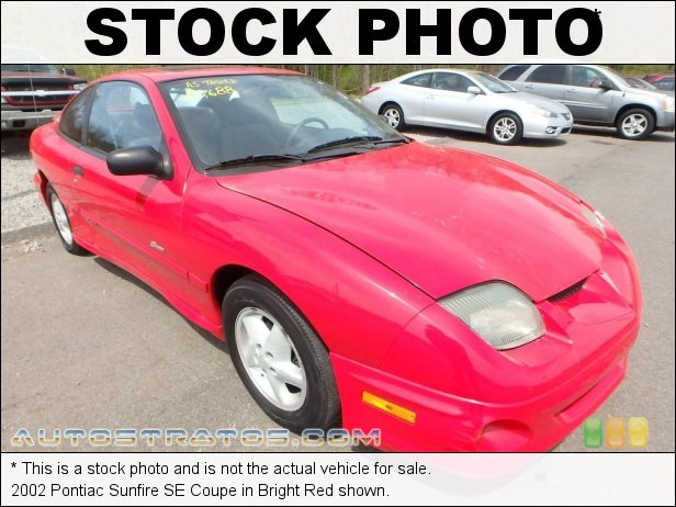 Stock photo for this 2002 Pontiac Sunfire SE Coupe 2.2 Liter OHV 8-Valve 4 Cylinder 5 Speed Manual