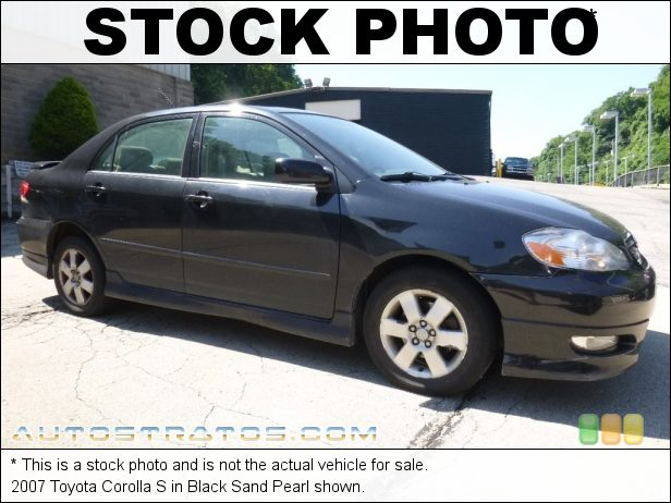 Stock photo for this 2007 Toyota Corolla S 1.8L DOHC 16V VVT-i 4 Cylinder 4 Speed Automatic