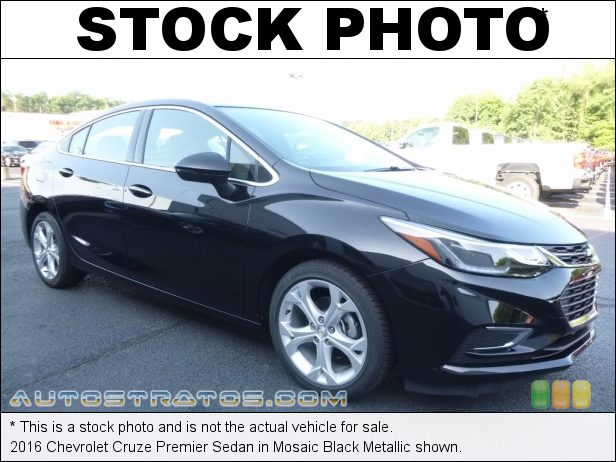 Stock photo for this 2016 Chevrolet Cruze Premier Sedan 1.4 Liter DI Turbocharged DOHC 16-Valve VVT 4 Cylinder 6 Speed Automatic