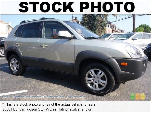 Stock photo for this 2008 Hyundai Tucson SE 4WD 2.7 Liter DOHC 24-Valve VVT V6 4 Speed Automatic