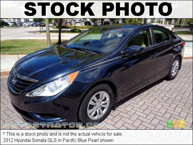 Stock photo for this 2012 Hyundai Sonata GLS 2.4 Liter GDI DOHC 16-Valve D-CVVT 4 Cylinder 6 Speed Shiftronic Automatic