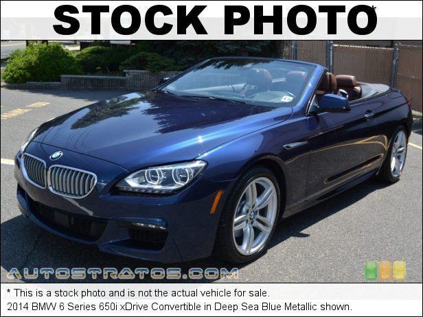 Stock photo for this 2014 BMW 6 Series 650i xDrive Convertible 4.4 Liter DI TwinPower Turbocharged DOHC 32-Valve VVT V8 8 Speed Sport Automatic