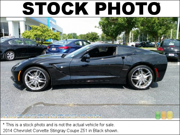 Stock photo for this 2014 Chevrolet Corvette Stingray Coupe Z51 6.2 Liter DI OHV 16-Valve VVT V8 7 Speed Manual