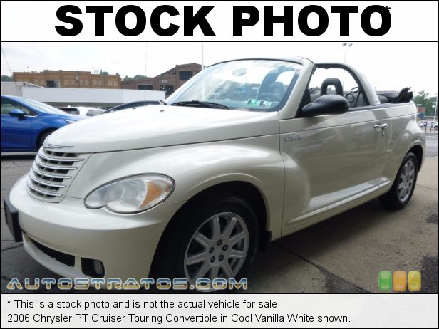 Stock photo for this 2006 Chrysler PT Cruiser Touring Convertible 2.4 Liter DOHC 16 Valve 4 Cylinder 4 Speed Automatic