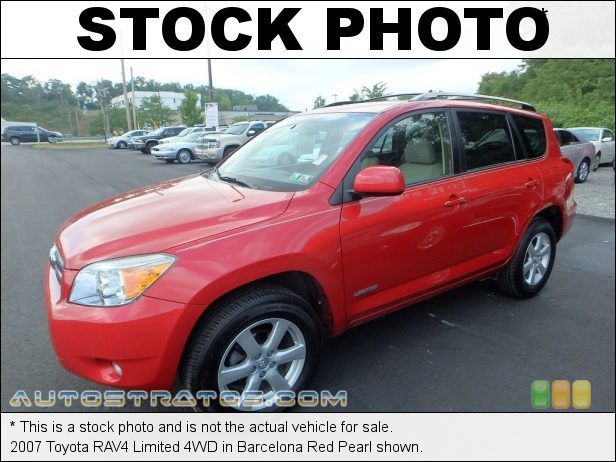 Stock photo for this 2007 Toyota RAV4 Limited 4WD 2.4 Liter DOHC 16-Valve VVT-i 4 Cylinder 4 Speed Automatic