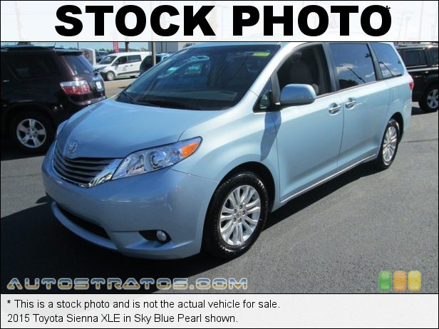 Stock photo for this 2015 Toyota Sienna XLE 3.5 Liter DOHC 24-Valve Dual VVT-i V6 6 Speed ECT-i Automatic