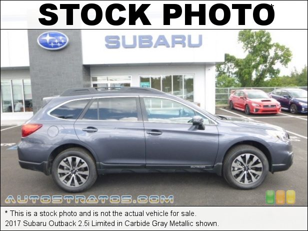 Stock photo for this 2017 Subaru Outback 2.5i Limited 2.5 Liter DOHC 16-Valve VVT Flat 4 Cylinder Lineartronic CVT Automatic