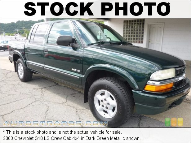 Stock photo for this 2003 Chevrolet S10 LS Crew Cab 4x4 4.3 Liter OHV 12V Vortec V6 4 Speed Automatic