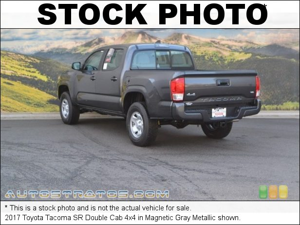 Stock photo for this 2017 Toyota Tacoma Cab 4x4 3.5 Liter DOHC 24-Valve VVT-iW V6 6 Speed Manual