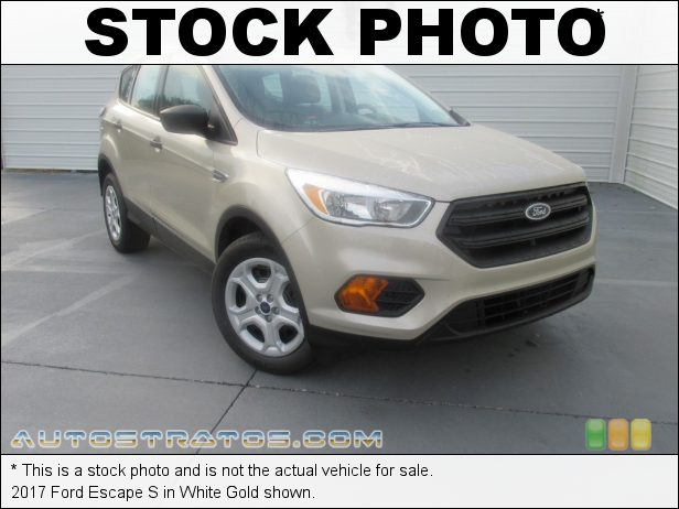 Stock photo for this 2017 Ford Escape S 2.5 Liter DOHC 16-Valve iVCT 4 Cylinder 6 Speed SelectShift Automatic