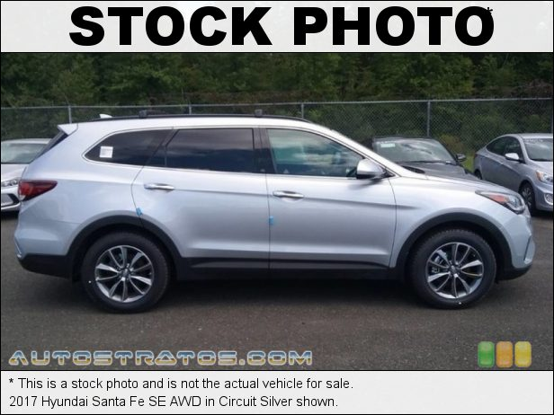 Stock photo for this 2017 Hyundai Santa Fe SE AWD 3.3 Liter GDI DOHC 24-Valve D-CVVT V6 6 Speed SHIFTRONIC Automatic