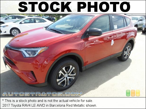 Stock photo for this 2017 Toyota RAV4 LE AWD 2.5 Liter DOHC 16-Valve Dual VVT-i 4 Cylinder 6 Speed ECT-i Automatic