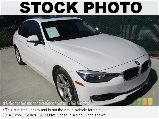 Stock photo for this 2014 BMW 3 Series 320i xDrive Sedan 2.0 Liter DI TwinPower Turbocharged DOHC 16-Valve 4 Cylinder 8 Speed Steptronic Automatic