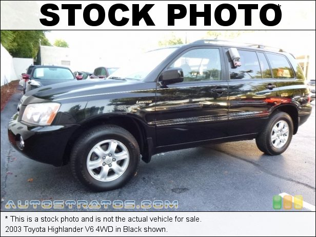 Stock photo for this 2003 Toyota Highlander 4WD 3.0 Liter DOHC 24-Valve VVT V6 4 Speed Automatic