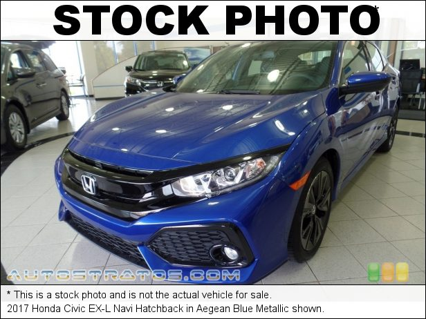 Stock photo for this 2017 Honda Civic EX-L Navi Hatchback 1.5 Liter Turbocharged DOHC 16-Valve 4 Cylinder CVT Automatic