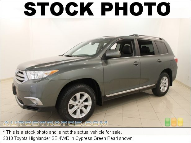Stock photo for this 2013 Toyota Highlander 4WD 3.5 Liter DOHC 24-Valve Dual VVT-i V6 5 Speed ECT-i Automatic